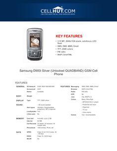 samsung-d900isilverunlockedquadbandgsmcellphone-brochure15781 by Cellhut via Slideshare