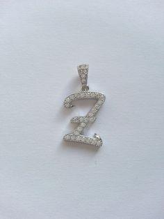 Z-Letter Necklace Sterling Silver 925 Silver by MerlinSilver