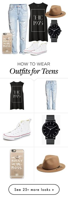 """""""No. 1"""" by madison-brownson on Polyvore featuring H&M, Converse, rag & bone, The Horse, Casetify, women's clothing, women, female, woman and misses"""