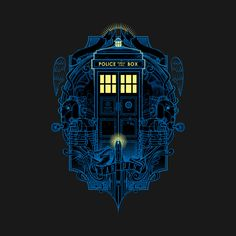 tardis dr who pop culture space dalek cybermenm police tv serie doctor Movies-&-TV Doctor Who Tattoos, Doctor Who T Shirts, Art Doctor Who, Tenth Doctor, Tardis Dr Who, Tardis Blue, Serie Doctor, Day Of The Shirt, Through Time And Space