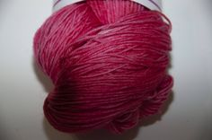 Hand-Dyed Yarn in Cherry Delight Colourway 4ply Superwash Polwarth Snuggly Base by KnitterScarlet on Etsy