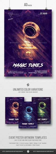 Acid Trance - Club Party Flyer \/ Poster Template A3 Party flyer - party flyer template