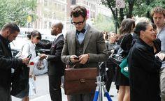 Brad Goreski with his gorgeous Chanel Vintage briefcase.  #chanel #men