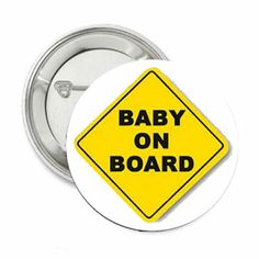 """Baby Shower Party """"Baby on Board"""" Pin Back Buttons 2.25"""""""