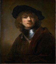 Rembrandt. Autoportrait au béret et gorget, 1634. Hst, 62,5x54cm. Florence, Galerie des Offices.