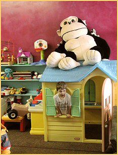 Sovereign Grounds Coffee Chop - has a large indoor Playroom