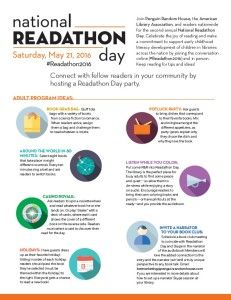 Celebrate Readathon Day on May 21st @ your Library