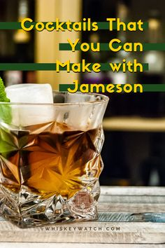 It's pretty clear than you can't always drink whiskey plain, especially if you love cocktails as well, so if you like Jameson a lot, and you are looking for delicious cocktails you can make with it, here are my top favorites, that you can easily make at home with a few ingredients. What's your favorite? #whiskeywatch #jamesonirishwhiskey #jamesonwhiskeydrinks #jamesonwhiskeydrinkseasy #jamesoncocktails #simplejamesondrinks #jamesonwhiskeydrinkslemonade #jamesondrinksrecipes