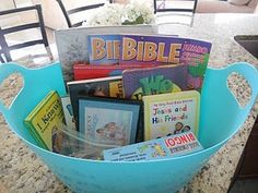 Make a Sunday activity bucket--full of activities for kids to help keep the Sabbath a special day.