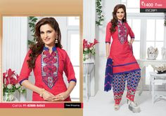 Beautiful Dark Pink Blue Patiyala Suit at Rs1400Only Visit http://enasasta.com/deal/dark-pink-blue-patiyala-suit OR Call/WhatsAp-8288886065  Product Code :ESC28P1  Deal is Valid For Today Only Top:Cotton Bottom: Cotton Embriodered Dupatta: Chiffon Work: Embriodery Fabric : Unstitched Get 5% Extra Discount for Advance Payment on every Deal  Cash On Delivery Available!! FREE Shipping!!