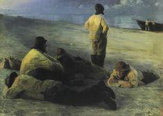 Artist: Peder Severin Kroyer Title: Fishermen on the Beach