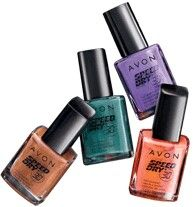 Speed Dry+ Nail Enamel, Dries in less than 30 seconds! Makes nails feel rock hard! This fast-drying formula contains Avon's Flash Dry Technology, a unique blend of quick-drying ingredients, and Volcanic Rock. The customized flat brush allows the formula to glide on smoothly and evenly without streaking. Your nails will be polished in no time at all. No formaldehyde, toluene or DBP. .4 fl. oz. TO USE: SHAKE WELL. Apply first coat to each nail, let dry and apply second coat.