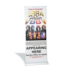 The premium roller banner is supplied with a stable heavy weight stand without swing out feet. Designed for frequent use at exhibitions, presentations and other events where a quality product is important.