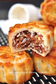 5 nuts mooncakes 五仁月饼