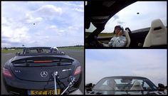 Let's see him do it with his mouth! ;) David Coulthard catches golf ball at 120 mph in Mercedes-Benz SLS AMG