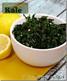 Lemon Garlic Kale | Running in a Skirt You will never look at Kale the same way again after making this! It is tender, fresh and delish! Find out what makes this kale even more tender in the post. www.RunninginaSkirt.com