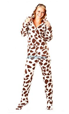 Brown Cow Footed Pajamas features Thumb holes baa06542f
