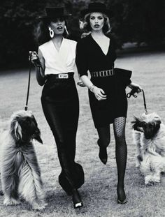 We look better than the 50's Vogue models, don't we? We don't ask for it all. But can we have the dogs?
