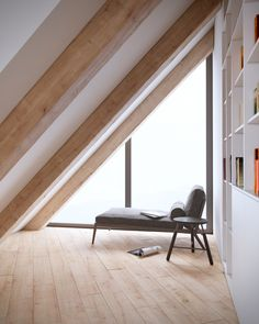 Have an awkward shaped room? You could always turn it into a reading nook!