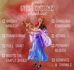 Everything you need to put together your own gypsy costume.