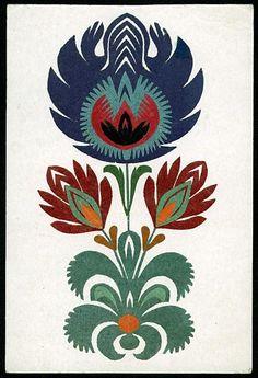 Vintage flowers paper-cut.