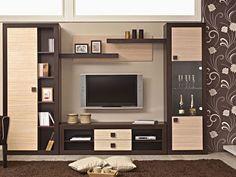Living Room Tv Cabinet Designs, Built In Shelves Living Room, Living Room Partition, False Ceiling Living Room, Modern Tv Unit Designs, Modern Tv Units, Modern Tv Wall, Tv Unit Furniture Design, Tv Unit Interior Design