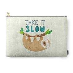 Best Makeup Bag | Society6 Sloth CarryAll Pouch Large 125 x 85 -- Check this awesome product by going to the link at the image.(It is Amazon affiliate link) #music