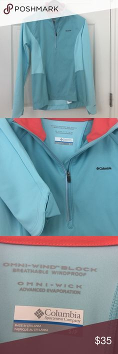 Columbia  breathable stretch pullover. Columbia omni-wind block and omni- wick breathable pullover. Women's sz S. Excellent condition. Columbia Tops