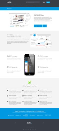 LUCA - Responsive HTML5 Template by  @Graphicsauthor