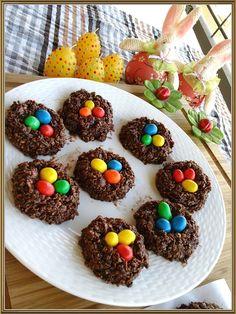 Πασχαλινες Σοκολατενιες Φωλιτσες (χωρις ψησιμο). με Βρωμη ή Κορν Φλεικς.