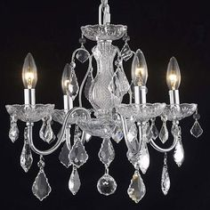 Add charm and elegance to your decor with this St. Francis chandelier. Beautiful faceted crystal highlights this sleek chrome finished light.