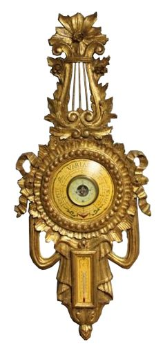 French Giltwood Barometer; early 20th century