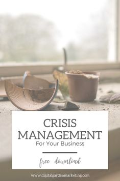 Something bad has happened within your business. What do you do? Here is a free guide on how to manage crises.  #TheDigitalGarden #WelcomeToOurGarden #LetsGetGrowing #SupportSmallBusiness #GrowYourBusiness    #Oshkosh #Wisconsin #Social #Media #Marketing #Consultant #Digital #Entrepreneur #SME #Business #Woman #Inbound  #CrisisManagement #PR #PublicRelations #inboundmarketingentrepreneur