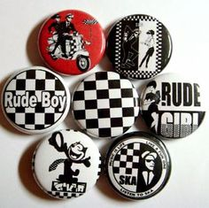 Ska buttons! Ska Music, Youth Subcultures, Soul Funk, Rude Boy, Band Photos, Reggae, Punk Rock, Badges, Smooth