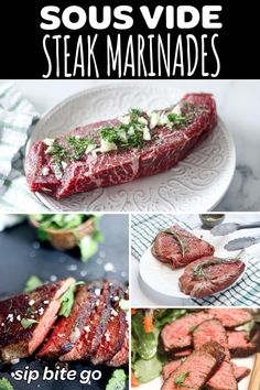 Love sous vide cooking? Find out how to choose a steak marinade for sous vide recipes. This will add so much flavor to your sous vide dishes.| sipbitego.com #sipbitego #sousvide #sousvidecooking #sousviderecipe #steak #immersioncirculator #precisioncooking #cooking #cookingtechniques #easyrecipes #sousvidesteak #sousvidebeef #marinades #steaks #mealprep