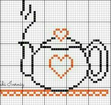 Ponto cruz Cross Stitching, Cross Stitch Embroidery, Embroidery Patterns, Crochet Patterns, Cross Stitch Charts, Cross Stitch Designs, Cross Stitch Patterns, Cross Stitch Christmas Ornaments, Cross Stitch Kitchen