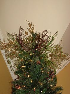 How to make those spray Christmas tree toppers - detailed directions.