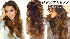 2 ★ LAZY HEATLESS CURLS |  Overnight Waves HAIRSTYLES--I guess I am sleeping in my donut tonight?
