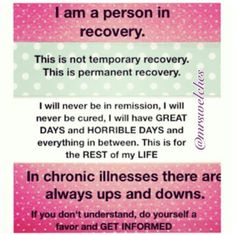 Chronic illnesses, autoimmune diseases that don't currently have a cure require a lifetime recovery mindset. But at the same time, I choose to hope and believe that there will be a cure in my lifetime. Chronic Migraines, Chronic Fatigue, Chronic Illness, Chronic Pain, Rheumatoid Arthritis, Endometriosis, Thyroid Cancer, Thyroid Disease, Autoimmune Disease