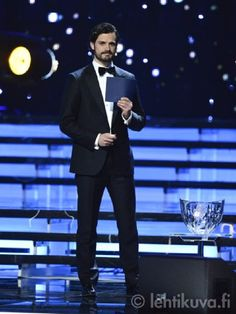 Prince Carl Philip at the Swedish Sports Gala at Ericsson Globe