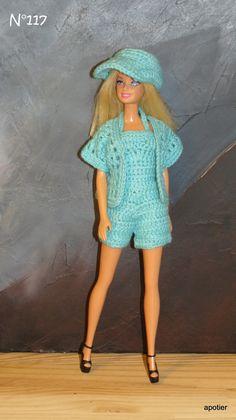 Barbie fashionistas de longs cheveux blonds portant Tropical Robe Imprimée