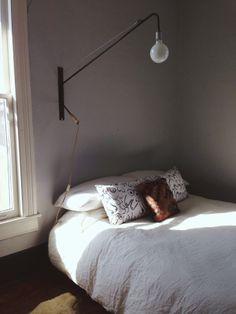 Items similar to Potence swing arm lamp on Etsy Mini Loft, Budget Bedroom, Bedroom Decor, Bedroom Ideas, Dream Rooms, Dream Bedroom, Minimalist Bedroom, Beautiful Bedrooms, Living Spaces