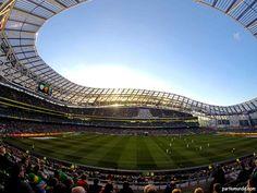 Aviva Stadium - Dublin (Ireland)- GT played Boston College and GT wins!