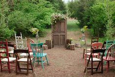 Southern Boho Wedding :: This is what I want.  Lots of character, small and simple. Love it.