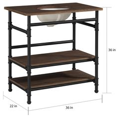 Sandi Fox saved to Industrial Open Shelf Vanity - 18184005 - Overstock - Great Deals on Bathroom Vanities - Mobile 29 Beautiful Industrial Style Bathroom Decor Ideas To Complement Your City Digs Bathroom Vanity Chair, Industrial Bathroom Vanity, Wood Vanity, Bathroom Furniture, Kitchen Furniture, Bathroom Vanities, Bathroom Ideas, Sinks, Industrial Furniture