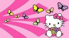 Imagen de Hello Kitty con mariposas | Todo Hello Kitty