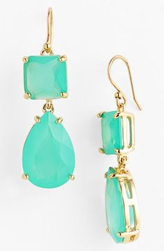 kate spade new york pool blue 'vegas jewels' drop earrings | Nordstrom