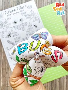 Bug Facts Fortune Tellers - Learn about Bugs Bug Hunt, Creation Crafts, Spring Crafts For Kids, Free Girl, Fortune Teller, Flower Crafts, Girl Scouts, Paper Goods, Some Fun