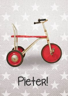Geboortekaartje vintage fietsje #vintage #geboortekaartje #retro Tricycle, Baby Design, Baby Cards, Kids, Crafts, Diy Baby, Om, Google, Children