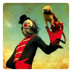surrealistic artwork/postcard NO. 004 by mothmeister on Etsy